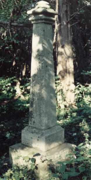 Robert M. Hovious' tombstone.