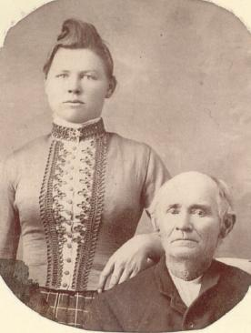 Emma Hovious and her father, Peter Hovious, ca. 1885