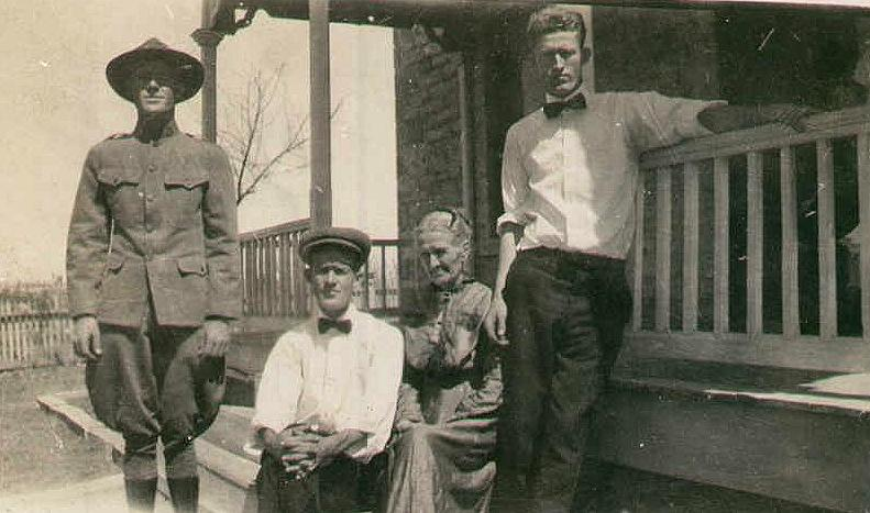 Kate Hovious Owens and three children, ca. 1918
